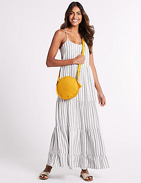 Circle Cross Body Bag, YELLOW, catlanding