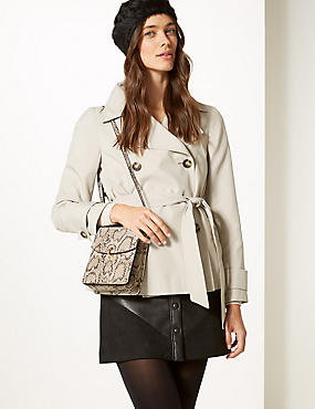 Faux Leather Cross Body Bag, GREY MIX, catlanding