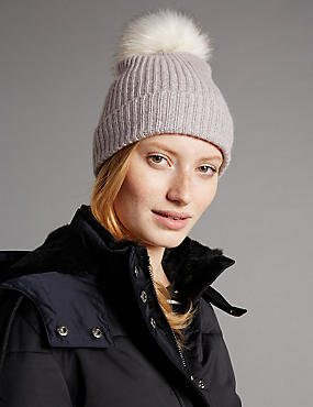 Pure Cashmere Bobble Hat