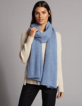 Pure Cashmere Textured Scarf