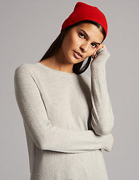 Pure Cashmere Beanie Winter Hat