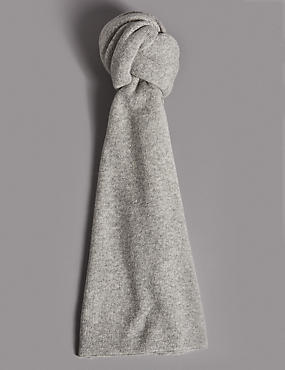 Pure Cashmere Ribbed Colour Block Scarf