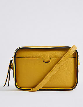 Faux Leather Camera Cross Body Bag