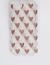 iPhone 6/6S Heart Print Phone Case