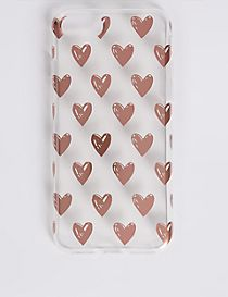 iPhone 7 Heart Print Phone Case