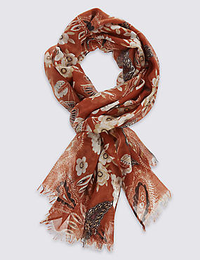 Remaster Paisley Print Scarf