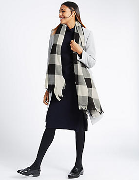 Large Check Scarves