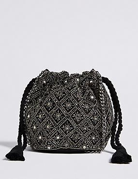 Embellished Cross Body Bag, , catlanding