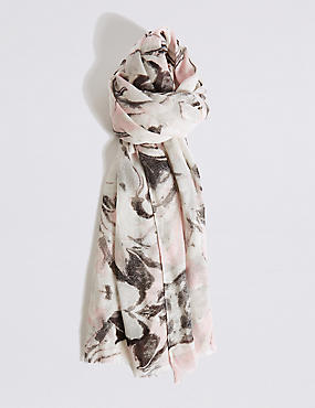 Marble Shimmer Print Scarf