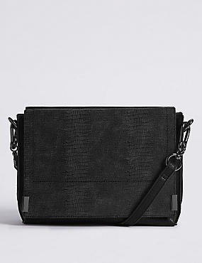3 Part Compartment Cross Body Bag