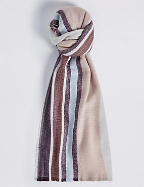 Soft Touch Striped Scarf