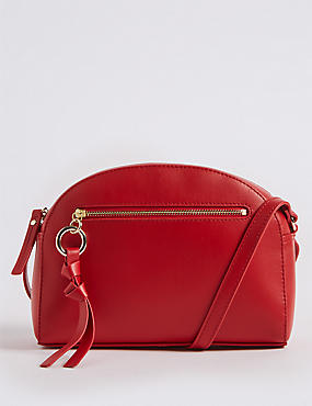 Leather Crescent Cross Body Bag