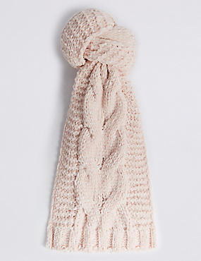 Cable Chenille Scarf
