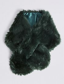 Faux Fur Slot Through Scarf