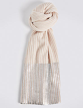 Foil Contrasting Edge Scarf