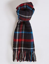 Women's Wool Blend Checked Scarf