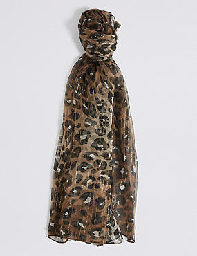 Slick Rich Animal Print Scarf