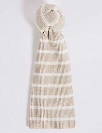 Striped Soft Knit Scarf