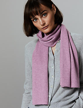 Pure Cashmere Scarf , HEATHER, catlanding