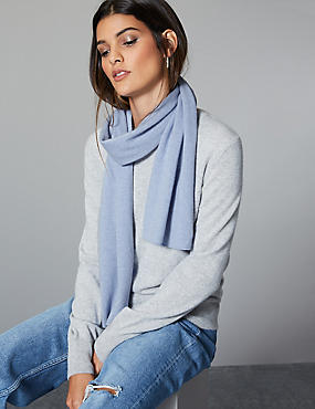 Pure Cashmere Scarf , BLUEBELL, catlanding