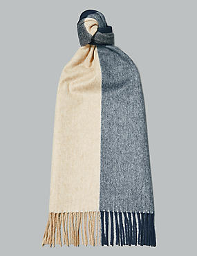 Pure Cashmere Checked Scarf, BROWN MIX, catlanding
