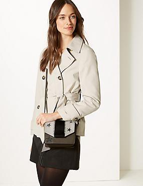 Faux Leather Cross Body Bag, , catlanding