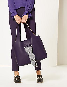 Faux Leather Shoulder Bag, ULTRAVIOLET, catlanding