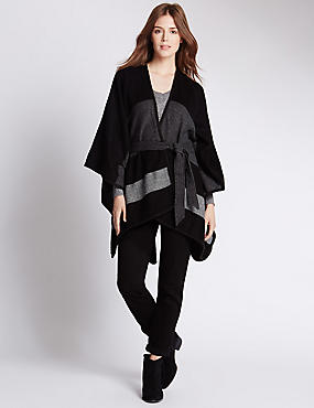 Open Front Belted Wrap