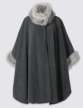 Fur Fleece Wrap