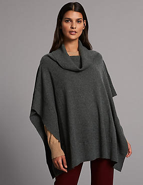 Pure Cashmere Turtle Neck Wrap