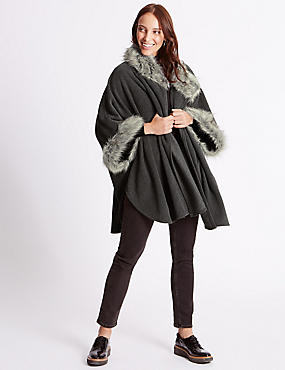 Faux Fur Fleece Wrap
