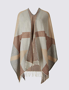 Checked Tassel Wrap