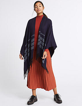 Tonal Striped Wrap