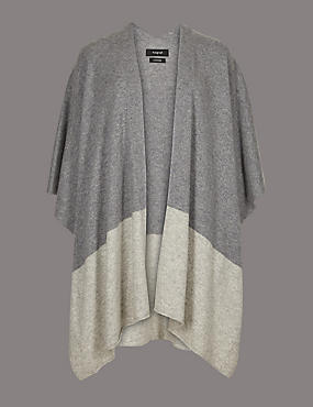 Pure Cashmere Colour Block Wrap