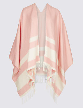 Colour Block Striped Wrap