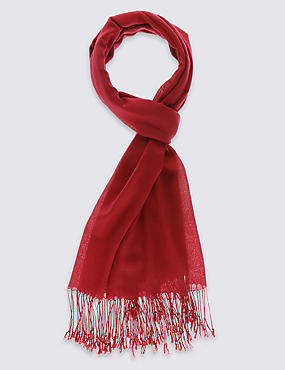Modal Blend Pashmina Scarf with Wool