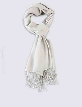 Modal Blend Scarf with Wool