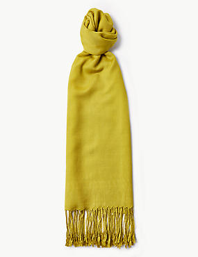 Modal Rich Pashminetta Scarf, WINTER LIME, catlanding