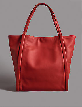 Leather Tote Bag, , catlanding