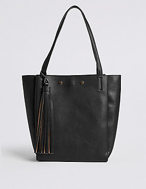 3 Compartment Tassel Tote Bag