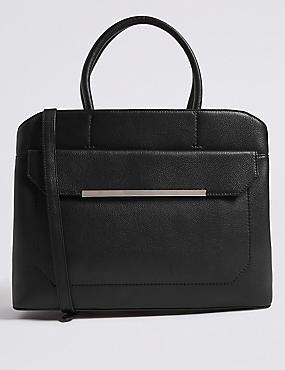 Leather Tote Bag, , catlanding