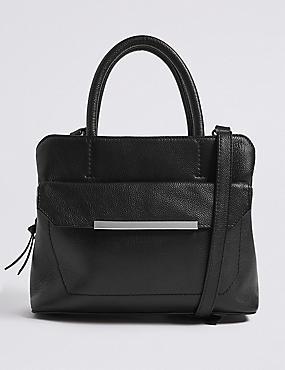 Leather Grab Tote Bag , , catlanding