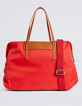 Weekender Shopper Bag, RED, catlanding