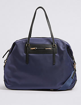 Weekender Shopper Bag, NAVY MIX, catlanding