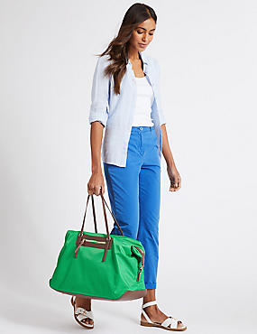 Weekender Shopper Bag, GREEN, catlanding