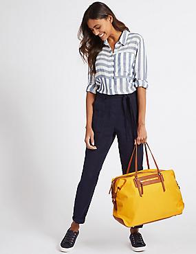 Weekender Shopper Bag, YELLOW, catlanding