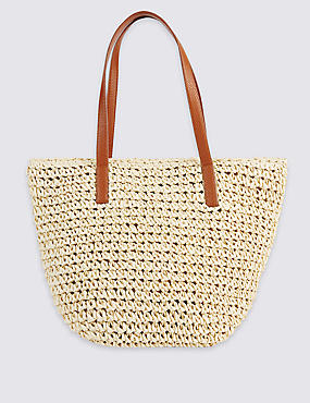 Straw Bucket Shoulder Bag