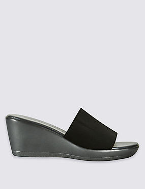 Wedge Heel Mule Sandals with Insolia®