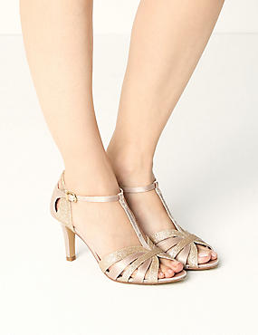 Stiletto Heel Glitter Sandals, BLUSH, catlanding