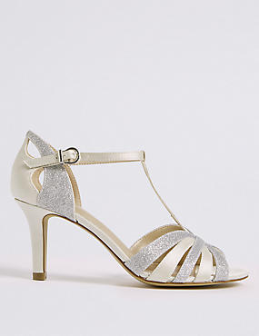 Stiletto Heel Glitter Sandals